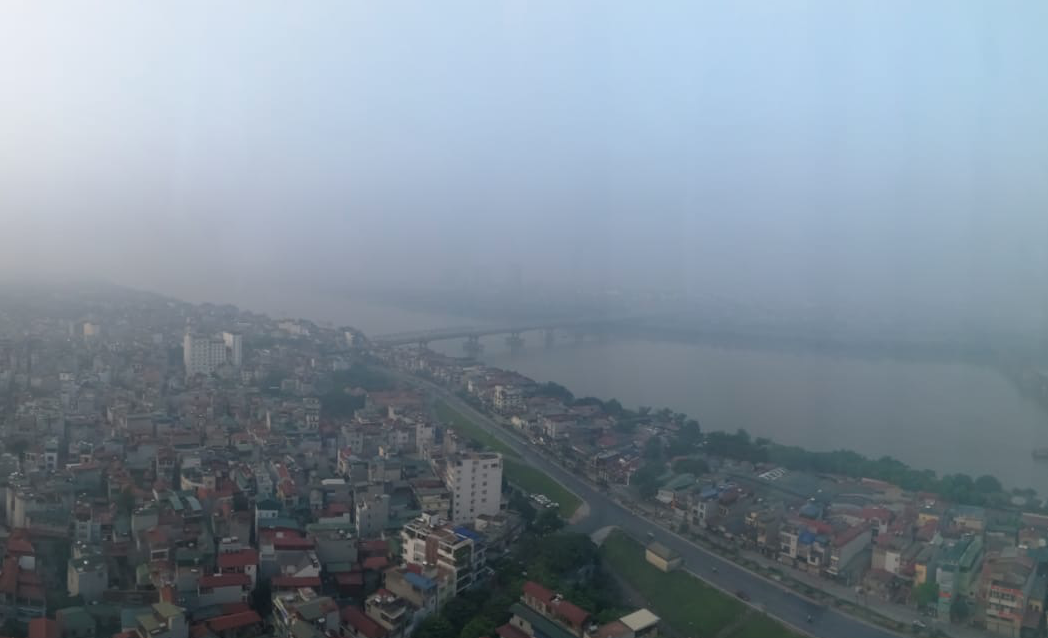 October 2019. Eco-Business writer Sarah Lin, who was in Hanoi when AirVisual app reported 'hazarous' air quality, suffered a bleeding nose as a result of the haze. Image: Sarah Lin, Eco-Business